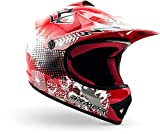 "armor HELMETS® AKC-49 ""Red"" · Kinder Cross-Helm · Motorrad-Helm MX Cross-Helm MTB BMX Cross-Bike Downhill Off-Road Enduro-Helm Moto-Cross Sport · DOT Schnellverschluss Tasche M (55-56cm)"